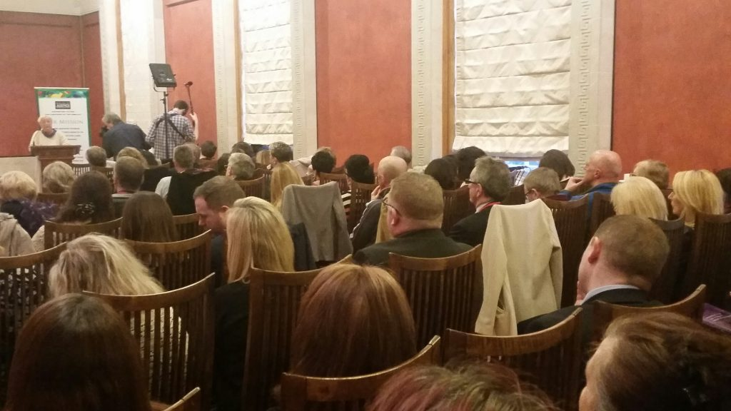 Monica McWilliams addressed a packed Long Gallery in Stormont