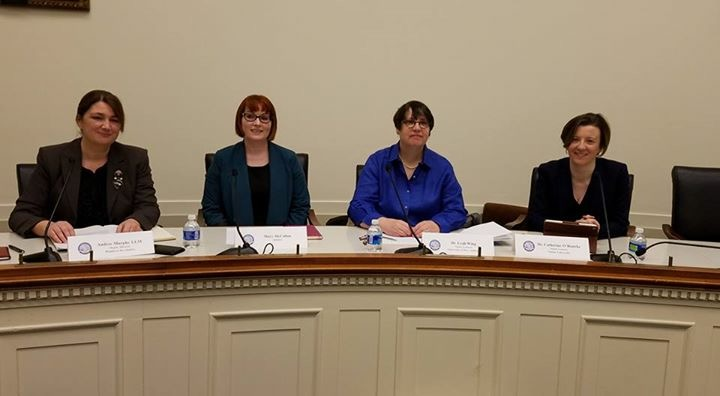 l-r RFJ Deputy Director Andrée Murphy, Mary McCallan, Leah Wing and Dr Catherine O'Rourke